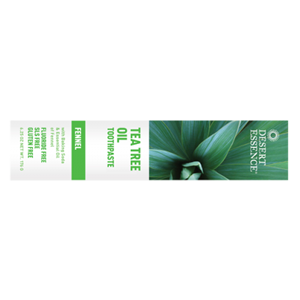 Natural Tea Tree Oil Toothpaste, Fennel - 6.25 oz tube