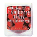 Vegan Anti-bacterial Cranberry Floss, 50 meters